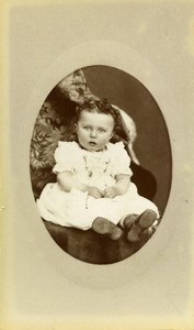 France Beauvais Fashion Children Old Photo CDV Herbert 1880'