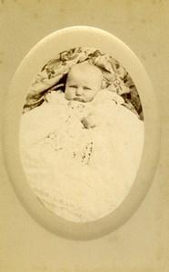 France Beauvais Fashion Child Baby Old Photo CDV Herbert 1880'