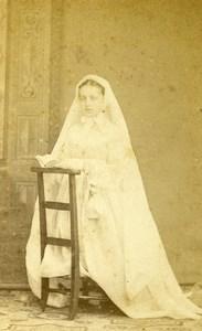 France Beauvais First Communion Children Old Photo CDV Herbert 1870'