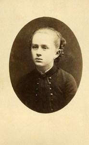 France Rouen Fashion Children Portrait Old Photo CDV Fontaine 1880'