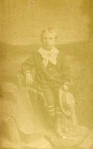 France Le Havre Enfant Mode pour la Plage ancienne Photo CDV Caccia 1870'