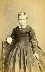 France Saint Quentin Second Empire Fashion Children Old Photo CDV Vinmer 1860's