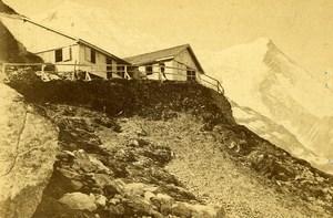 France Alpes Chamonix Chalet Pierre Pointue ancienne Photo CDV 1870'