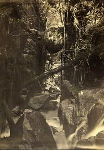 Allemagne? Torrent Gorges ancienne Photo CDV 1870'