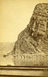 Royaume Uni Lundy Island? Falaise ancienne Photo CDV 1870'