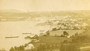 Austria Gmunden Panorama from Grünberg Old Photo CDV Baldi & Wurthle 1870'