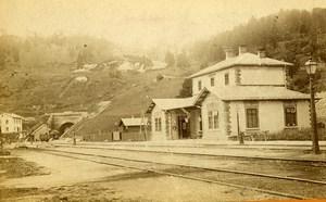 Austria Semmering Railway Station Old Photo CDV 1870'