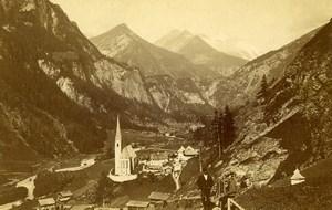 Austria Heiligenblut am Grossglockner Panorama Old Photo CDV Unterberger 1870'