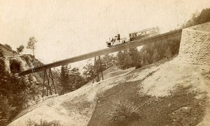 Switzerland Rigi Bahn Panorama Old Photo CDV Atelier Richard 1870'