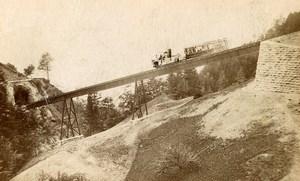 Switzerland Rigi Bahn Panorama Old Photo CDV Atelier Richard 1870'