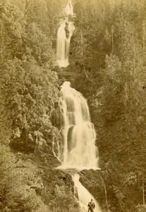 Switzerland Giessbach Falls Old Photo CDV Adolphe Braun 1870'