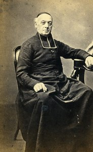France Lille Religion Priest Lefebvre St Etienne dean Old Photo CDV Lyon 1870'