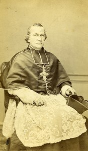 France Lille Religion Monseigneur Delannoy Old Photo CDV Bury 1870'
