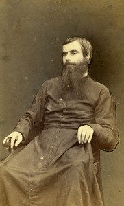 France Roubaix Religion Priest Old Photo CDV Leon 1870'