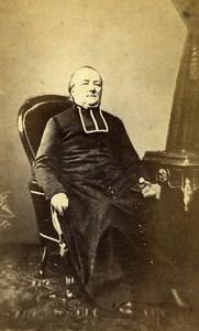France Religion Pretre Portrait ancienne Photo CDV 1870'
