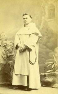 France Paris Religion Monk Old Photo CDV Le Jeune 1870'