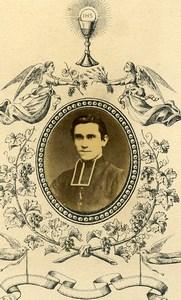France Bordeaux Religion Priest Portrait Old Photo CDV Condat 1870'