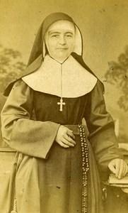 Belgium Hasselt Religion Mother Superior Old Photo CDV Blanckart 1870'