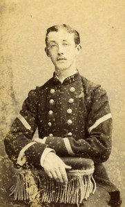 France Beziers Military Soldier in Uniform Old Photo CDV Reynouls 1880'