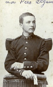 France Chatellerault Military Soldier Uniform Deguin Photo CDV Delaunet 1900'