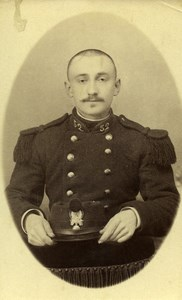 France Lyon Military Soldier Uniform Old Photo CDV Grampa 1900'