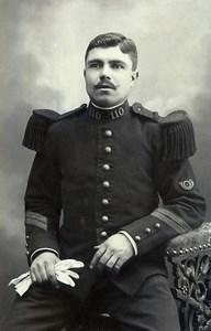 France Dunkerque Military Soldier Uniform Old Photo CDV Barnabé 1890'