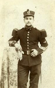 France Militaire Soldat Uniforme ancienne Photo CDV Gabriel 1870'