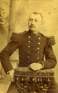 France Nancy Military Soldier Uniform Old Photo CDV Woelflin 1890'