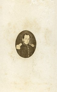 France Paris Military Soldier Uniform Old Photo Gem CDV Delintraz 1870'