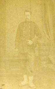 France Militaire Soldat Uniforme ancienne Photo CDV 1870'