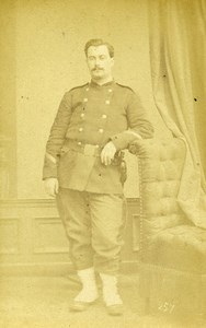 France Maubeuge Military Soldier Uniform Old Photo CDV Walrand 1870'