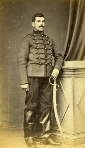 France Vernon Military Soldier Uniform Sabre Saber Old Photo CDV Lecoq 1870'