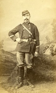 France Amiens Military Soldier Uniform Old Photo CDV Kaltenbacher 1870'