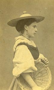 Switzerland Woman Traditional Fashion Canton of Vaud Old CDV Photo Braun 1870'