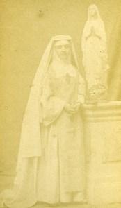 France Toulouse Religious Nun Uniform Old Photo CDV Provost 1870'