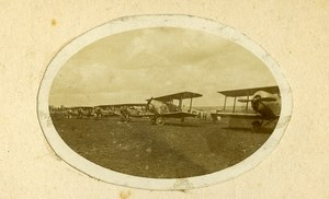 France Airplanes Old Photo CDV 1920' From Maurice Finat Aviator Collection