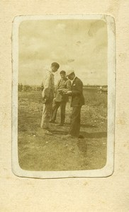 France Aviation Old Photo CDV 1920' From Maurice Finat Aviator Collection