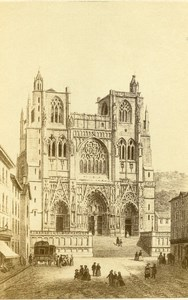 France Isere Vienne Cathedral Saint-Maurice Old Photo CDV Morier 1870'