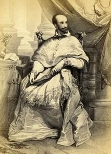 Italy Firenze Pitti Van Dyck Cardinal Bentivoglio Old CDV Photo Brogi 1860