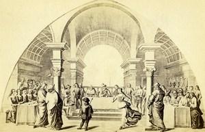 Italy Firenze Santa Maria Novella Ghirlandaio Herod Banquet CDV Photo Brogi 1860