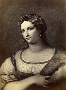 Italy Firenze Arts Raffaello Sanzio Morghen Fornarina Old CDV Photo Alinari 1860