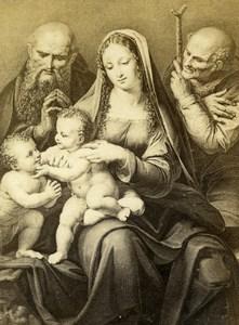 Italy Firenze Leonardo da Vinci La Vierge au Bas-relief CDV Photo Alinari 1860