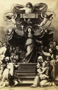Italy Firenze Fra Bartolomeo Madonna della Misericordia CDV Photo Alinari 1860