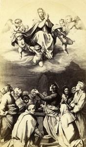 Italy Firenze Andrea del Sarto Passerini Assumption Old CDV Photo Alinari 1860