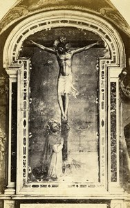 Italy Firenze Fra Angelico Crucifixion with St Dominic CDV Photo Alinari 1860