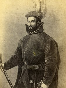 Italy Firenze Titian Portrait of Ippolito de' Medici Old CDV Photo 1860