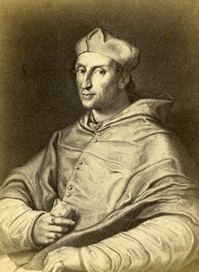 Italy Firenze Raphael Cardinal Bernardo Dovizi da Bibbiena Old CDV Photo 1860