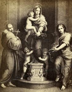 Italy Firenze Arts Uffizi Gallery Andrea del Sarto Old CDV Photo 1860
