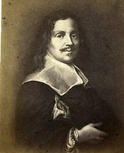 Italy Firenze Arts Painter Justus Sustermans Portrait Old CDV Photo 1860