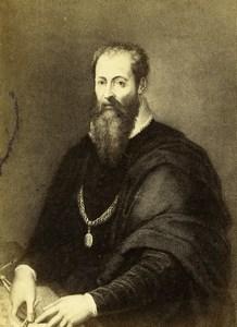 Italy Firenze Arts Painter Giorgio Vasari self portrait Old CDV Photo 1860